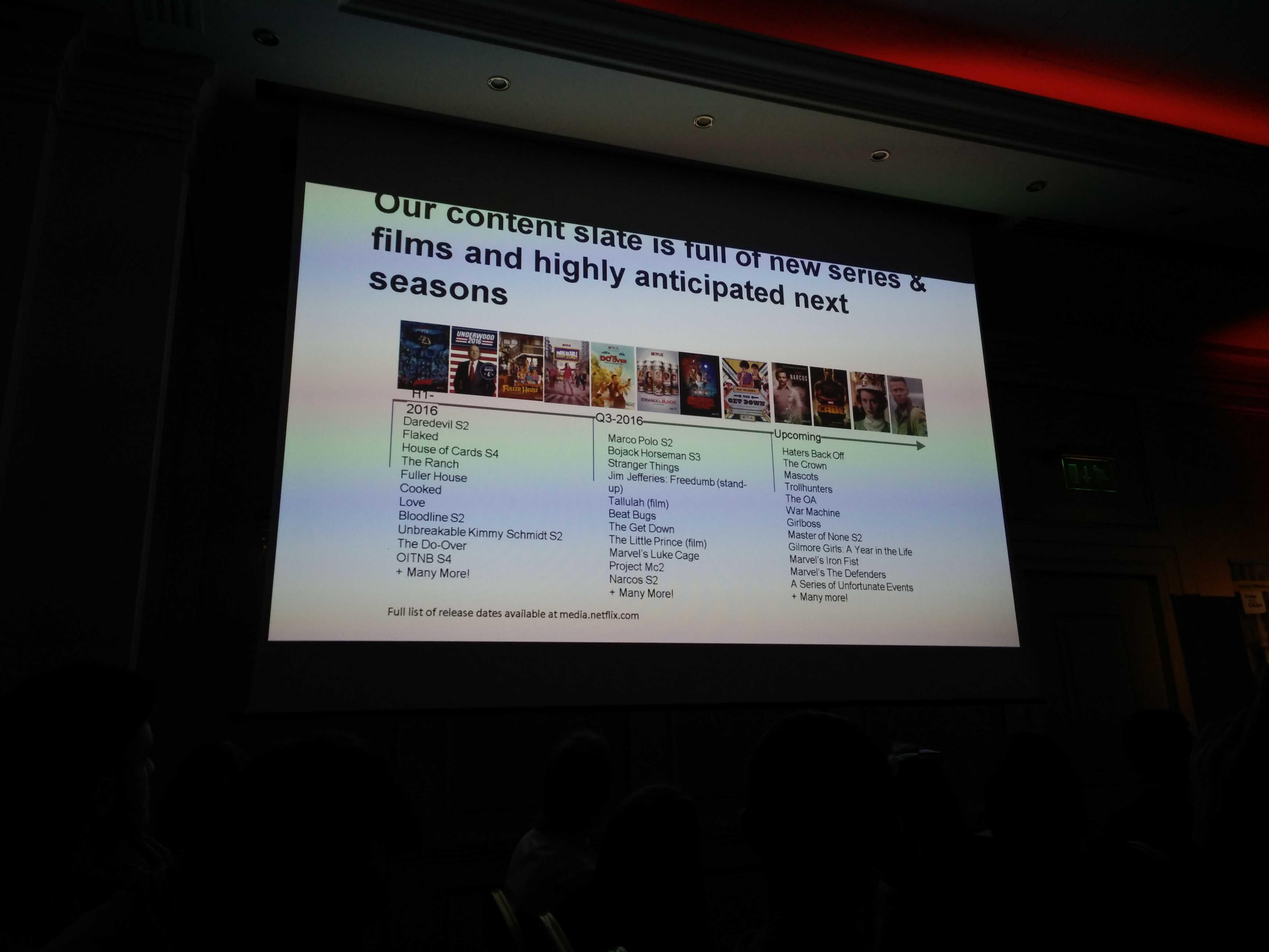 Plan lansări Netflix 2016