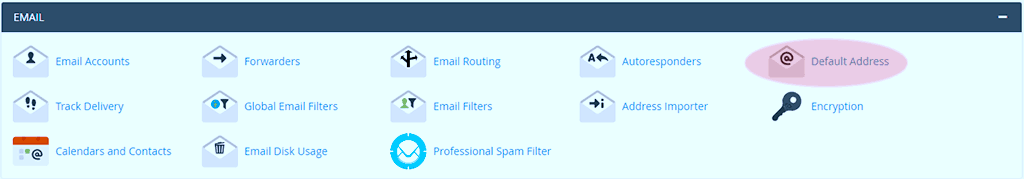 cPanel - EMAIL - Default Address